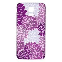 Floral Wallpaper Flowers Dahlia Samsung Galaxy S5 Back Case (White)