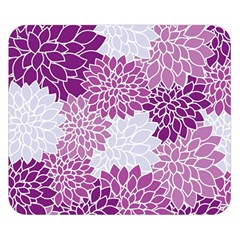 Floral Wallpaper Flowers Dahlia Double Sided Flano Blanket (Small)