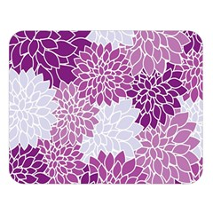 Floral Wallpaper Flowers Dahlia Double Sided Flano Blanket (large)
