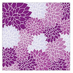 Floral Wallpaper Flowers Dahlia Large Satin Scarf (square)