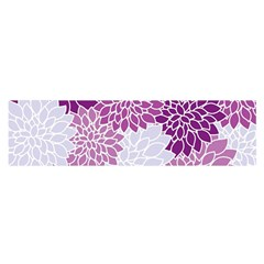 Floral Wallpaper Flowers Dahlia Satin Scarf (oblong)