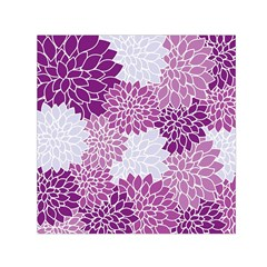 Floral Wallpaper Flowers Dahlia Small Satin Scarf (Square)