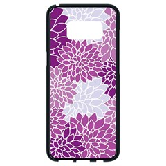 Floral Wallpaper Flowers Dahlia Samsung Galaxy S8 Black Seamless Case