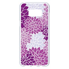Floral Wallpaper Flowers Dahlia Samsung Galaxy S8 Plus White Seamless Case