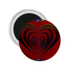 Red Heart Colorful Love Shape 2.25  Magnets