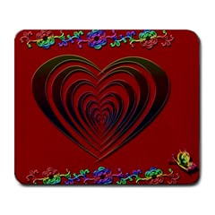 Red Heart Colorful Love Shape Large Mousepads