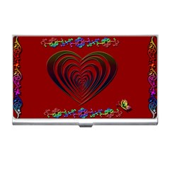 Red Heart Colorful Love Shape Business Card Holders