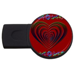 Red Heart Colorful Love Shape USB Flash Drive Round (2 GB)