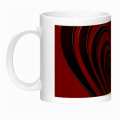 Red Heart Colorful Love Shape Night Luminous Mugs