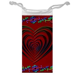 Red Heart Colorful Love Shape Jewelry Bag
