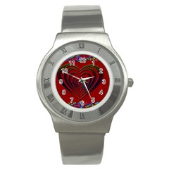 Red Heart Colorful Love Shape Stainless Steel Watch