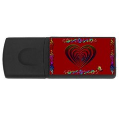 Red Heart Colorful Love Shape Usb Flash Drive Rectangular (4 Gb)
