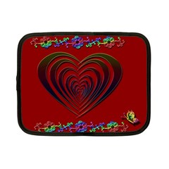 Red Heart Colorful Love Shape Netbook Case (Small)