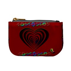 Red Heart Colorful Love Shape Mini Coin Purses