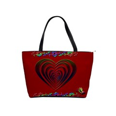Red Heart Colorful Love Shape Shoulder Handbags