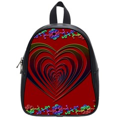 Red Heart Colorful Love Shape School Bags (Small)