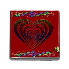 Red Heart Colorful Love Shape Memory Card Reader (Square)