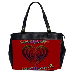 Red Heart Colorful Love Shape Office Handbags (2 Sides)