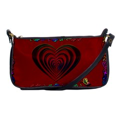 Red Heart Colorful Love Shape Shoulder Clutch Bags