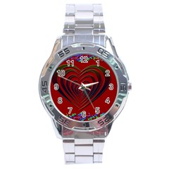 Red Heart Colorful Love Shape Stainless Steel Analogue Watch