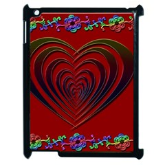Red Heart Colorful Love Shape Apple Ipad 2 Case (black)