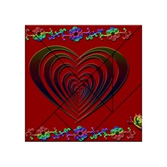 Red Heart Colorful Love Shape Acrylic Tangram Puzzle (4  x 4 )