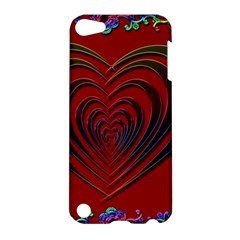 Red Heart Colorful Love Shape Apple iPod Touch 5 Hardshell Case