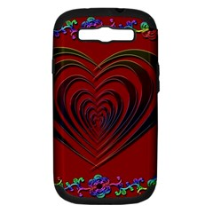 Red Heart Colorful Love Shape Samsung Galaxy S Iii Hardshell Case (pc+silicone)