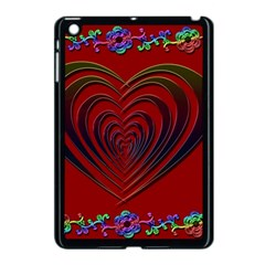 Red Heart Colorful Love Shape Apple Ipad Mini Case (black)