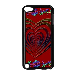 Red Heart Colorful Love Shape Apple Ipod Touch 5 Case (black)
