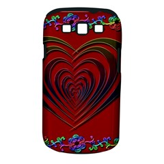 Red Heart Colorful Love Shape Samsung Galaxy S III Classic Hardshell Case (PC+Silicone)