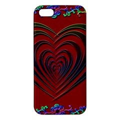 Red Heart Colorful Love Shape Apple iPhone 5 Premium Hardshell Case