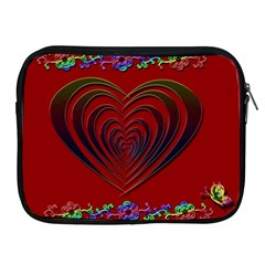 Red Heart Colorful Love Shape Apple Ipad 2/3/4 Zipper Cases