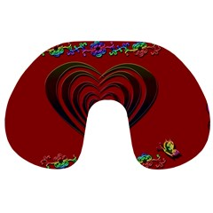 Red Heart Colorful Love Shape Travel Neck Pillows