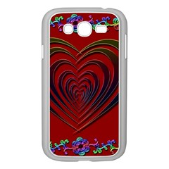 Red Heart Colorful Love Shape Samsung Galaxy Grand Duos I9082 Case (white)