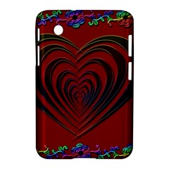 Red Heart Colorful Love Shape Samsung Galaxy Tab 2 (7 ) P3100 Hardshell Case