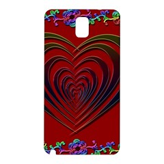 Red Heart Colorful Love Shape Samsung Galaxy Note 3 N9005 Hardshell Back Case