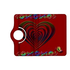 Red Heart Colorful Love Shape Kindle Fire Hd (2013) Flip 360 Case