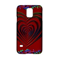 Red Heart Colorful Love Shape Samsung Galaxy S5 Hardshell Case
