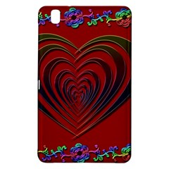 Red Heart Colorful Love Shape Samsung Galaxy Tab Pro 8.4 Hardshell Case
