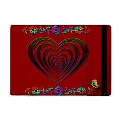 Red Heart Colorful Love Shape iPad Mini 2 Flip Cases
