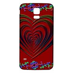 Red Heart Colorful Love Shape Samsung Galaxy S5 Back Case (white)