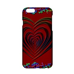 Red Heart Colorful Love Shape Apple Iphone 6/6s Hardshell Case