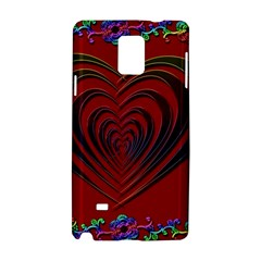 Red Heart Colorful Love Shape Samsung Galaxy Note 4 Hardshell Case