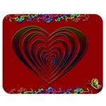 Red Heart Colorful Love Shape Double Sided Flano Blanket (Medium)  60 x50 Blanket Front