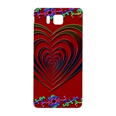 Red Heart Colorful Love Shape Samsung Galaxy Alpha Hardshell Back Case