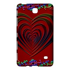 Red Heart Colorful Love Shape Samsung Galaxy Tab 4 (7 ) Hardshell Case
