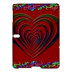 Red Heart Colorful Love Shape Samsung Galaxy Tab S (10 5 ) Hardshell Case