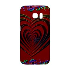 Red Heart Colorful Love Shape Galaxy S6 Edge