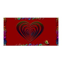 Red Heart Colorful Love Shape Satin Wrap
